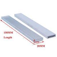 1 stück High-power Aluminium Kühlkörper Dichten Zahn Heizkörper 150x20x6mm Elektronische Kühlung Platte aluminium Bar