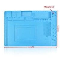 45x30cm Bga Repair Pad Desk Mat Maintenance Platform Heat Insulation Silicon For BGA Soldering Station With