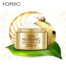 ROREC Whitening Snail Face Cream Collagen Anti-Aging Wrinkles Spots Skin Tone Firming Dark Circles day Cream premium snail tone up cream цена