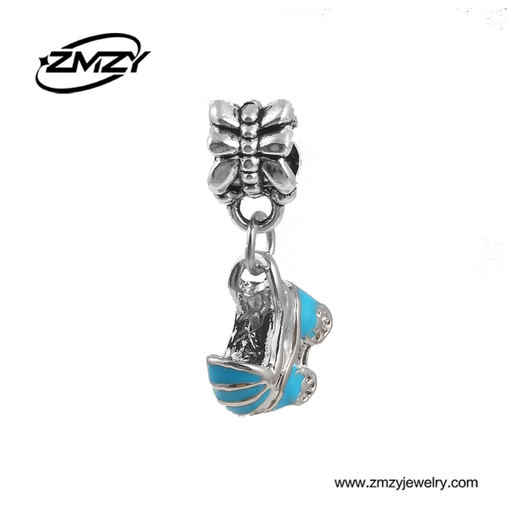 Original Baby Car Charms Beads Cute Style Enamel Metal Pendant Fits Pandora Charm Bracelet Necklace for Women