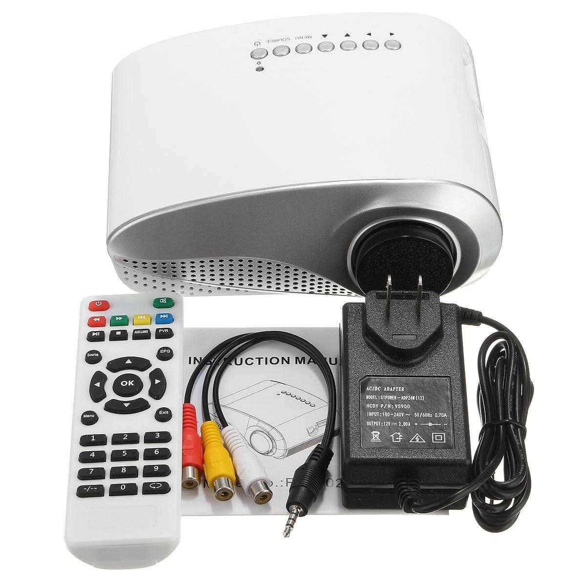 Best Promotion 802 Mini Home Multimedia Cinema LED 1080P Projector AV TV VGA USB HDMI SD Trendy Private Theater White US/EU plug rd 802 24w led hd home mini projector w hdmi vga usb remote control blue us plug