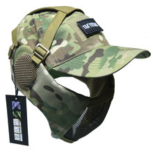 TAK YIYING Tactical Foldable Mesh Mask With Ear Protection With Cap for Airsoft Paintball Mask(China)