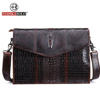 FEIDIKA BOLO Brand Men Shoulder Bags Genuine Leather Bag Men Messenger Bags Male Satchels Vintage Crossobody