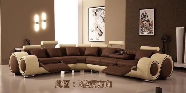 Moderne meubels sofa set lederen bank sofa meubelen sofa woonkamer bankstel wit kleur sofa in - Kleur moderne woonkamer ...
