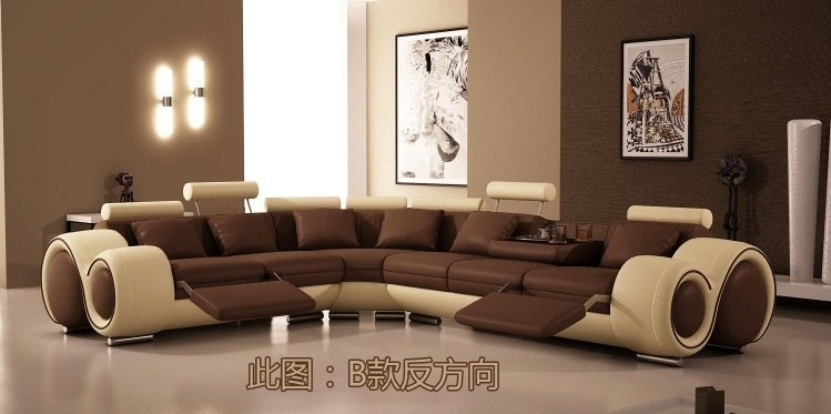 Modern furniture sofa set leather sofa sectional sofa home for Beiges sofa welche wandfarbe