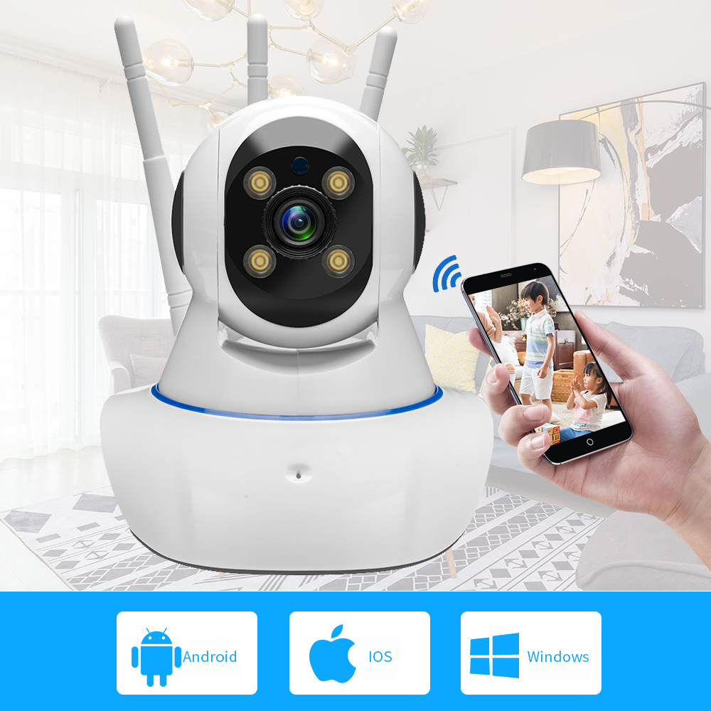 720P 1MP HD WiFi Wireless Home Security IP Camera Night Vision Two Way Audio P2P