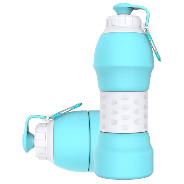 3bb5ac5735 Portable Collapsible Water Bottle,BPA-Free Lightweight Silicone Kettle For  Travel Outdoor Sport Camping Hiking Walk Running