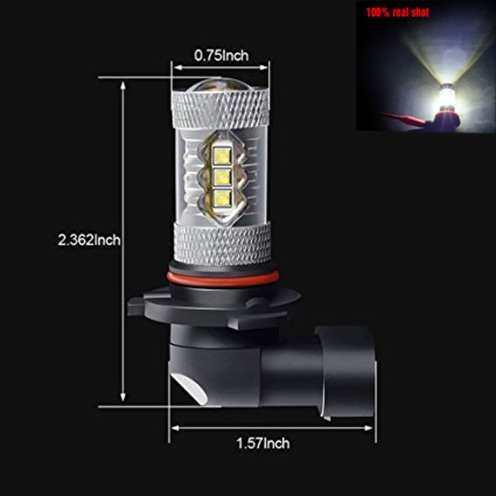 YSY 2X 80W H1 h7 9005 HB3 9006 HB4 LED 1920lm Car Fog Light Bulbs With CREE Chips Daytime Driving Lamp DRL 6000K newest 1set high power 80w white car auto led head light lamp bulbs 6000k 6600lm cob led headlights 9006 12000lm 6000k 80w