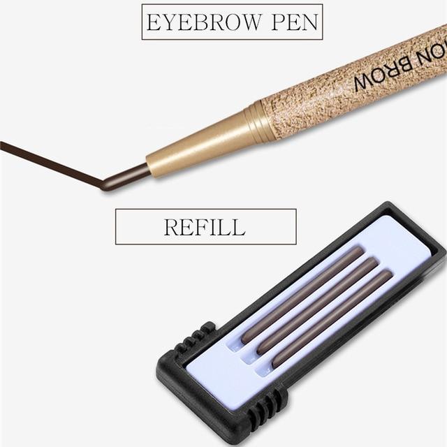 NOVO Brow Makeup Set Eyebrow Pen + 3pcs Refill + 3pcs Eyebrow Stencils Waterproof Natural Color Tint Eye Brow Pencil with Brush 4