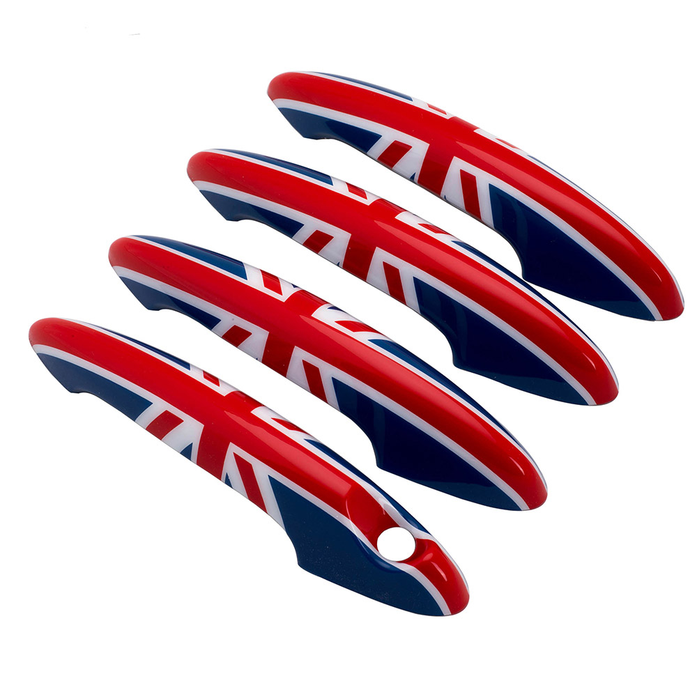 4Pcs Car ABS Outer Door Handle Doorknob Shell Cover Sticker Housing Car Styling For Mini Cooper JCW Countryman R60 Accessories aliauto car styling side door sticker and decals accessories for mini cooper countryman r50 r52 r53 r58 r56