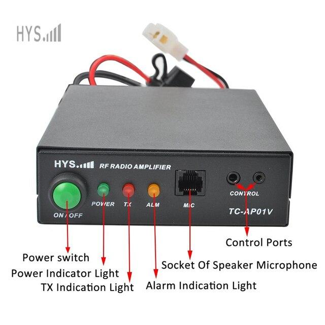 US $187 0 |HYS 70CM 400 470Mhz Amateur Ham Radio Power Amplifier For 2 6W  UHF Motorola GP300 CP200 CT150 Handheld Walkie Talkie-in Walkie Talkie from