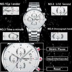 Image 2 - NIBOSI Men Watch Relogio Masculino Gold Black Mens Watches Top Brand Luxury Waterproof Automatic Date Quartz Watch Men Clock
