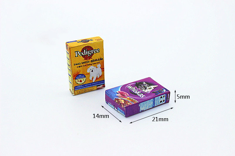 Beautiful 1:12 Dollhouse Miniature Mini Cat Dog Food Toy Match For Forest Animal Family Collectible Gift 2018