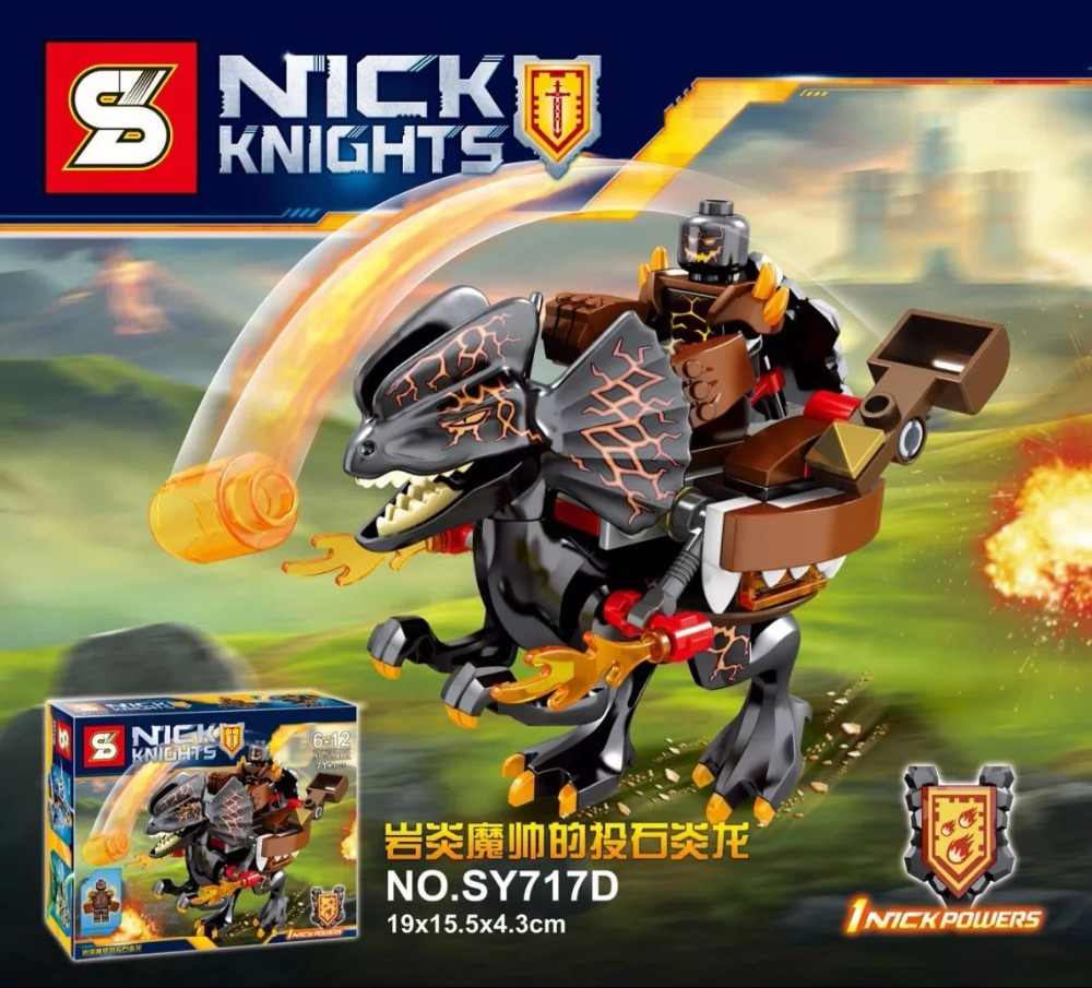 Nexus Knights Castle Knights SY717 figures 4Pcs/set ULTIMATE Clay Macy  Beast Master Toys For Children action fig Building Bricks