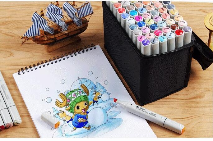 STA Marker Set Double Headed Sketch Alcohol Marker Pen Paint Sketch Art Marker 30 40 60 80 168 PCS/Set Color sta 128 colors double headed sketch alcohol drawing marker pen 24 36 48 60 72 set animation common paint sketch art marker
