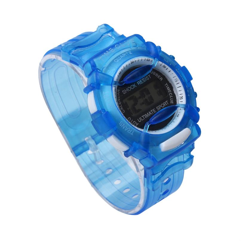 Perfect Gift Cute Boys Girls Children Students Waterproof Digital Wrist Sport Watch Blue  Levert Dropship Nov28 new fashion design unisex sport watch silicone multi purpose date time electronic wrist calculator boys girls children watch