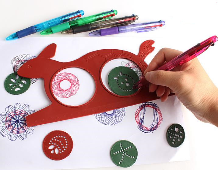 Spirograph Magic Turtle Rabbit Sketchpad Kids Gift Drawing Board Educational Toys Mat Magic Pen Educational Toy