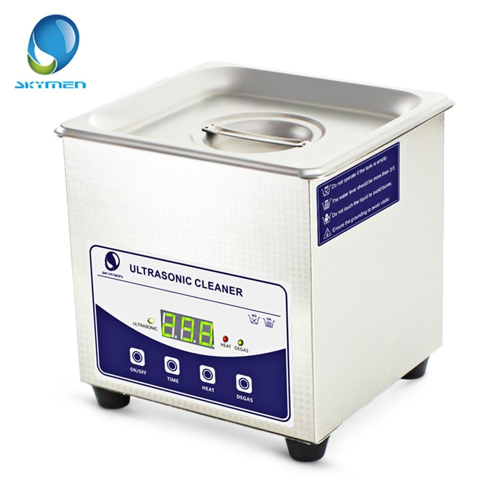 SKYMEN numérique 1L nettoyeur à ultrasons en acier inoxydable stérilisant les outils à ongles avec dégazage chauffage minuterie bain 60 W nettoyeur à ultrasons