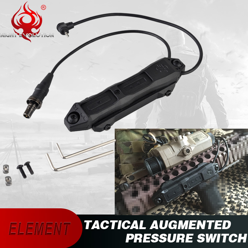 Airsoft Element Tactical Light Augmented Pressure Switch PEQ Double Control Switch Fit PEQ 15 PEQ 16A