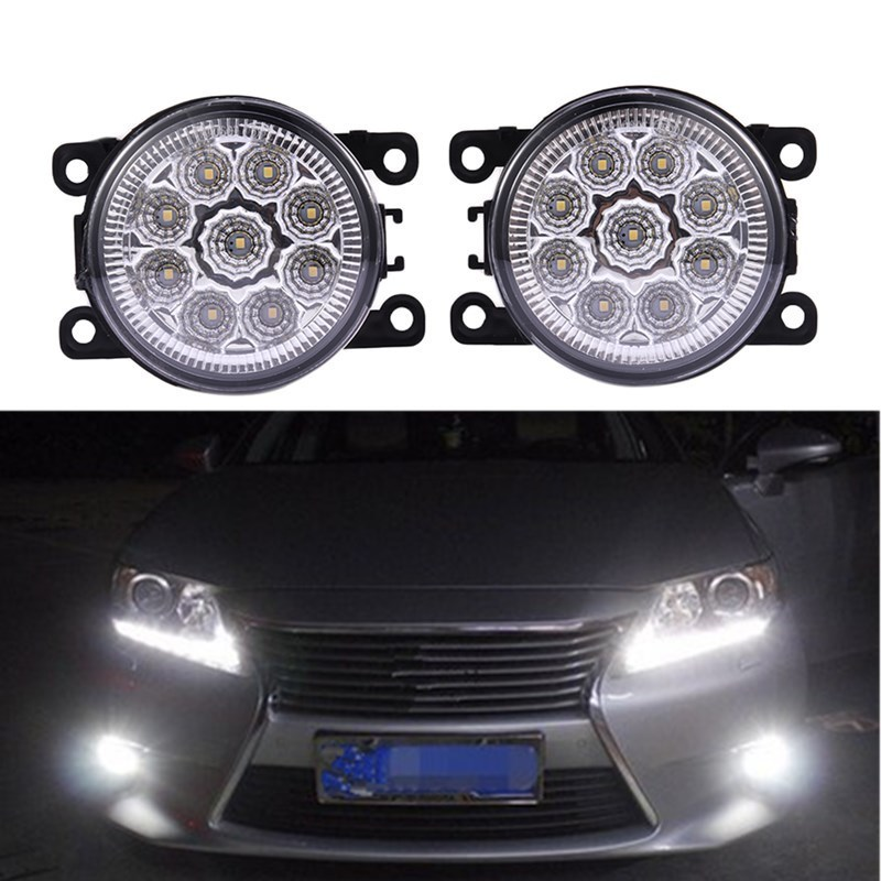 Car styling For Renault MEGANE 2 Saloon LM0 LM1 2003-2015 DUSTER 2012-2015 Front Bumper LED Fog Lights High Brightness Fog Lamps for renault megane 2 saloon lm0 lm1 2003 2015 car styling 6000k white 10w ccc high power led fog lamps drl lights