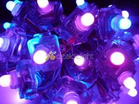 50PCS WS2801 Digital Diffused RGB LED Pixel Square 12mm IP68 Waterproof DC 5V Square Type Free Shipping
