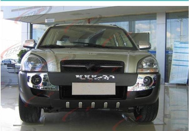 Acheter De haute qualité en plastique ABS Chrome Avant + Arrière couverture de butoir de garniture fit pour 2006 2012 Hyundai Tucson Voiture style de Pare-chocs fiable fournisseurs
