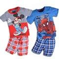 New Fashion Boys Clothes Kids Summer Clothing Set Shirt + Shorts Baby Boy Clothes Set Cartoon Children Clothing 2017