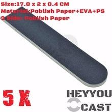 5/Pack Long Poblished/Buffing SandPaper Sticks for Model Kit Hobby Finishing Tools Accessory