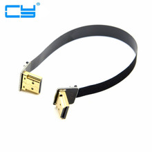 0.2M FPV Dual Up Angled 90 Degree HDMI Type A Male to Male HDTV FPC Flat Cable for Multicopter Aerial Photography 10CM 50CM 50cm 19 6 fpv ultra thin ribbon hdmi cable type d straight male to up angled 90 degree male type d hdtv fpc flex soft cable