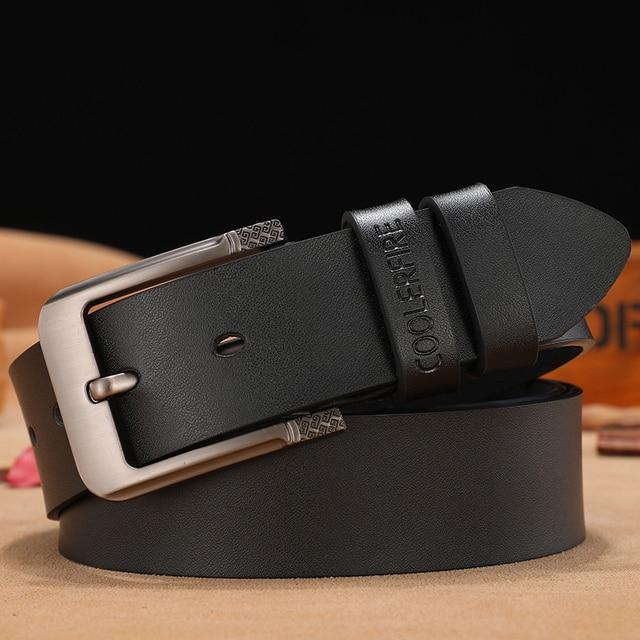 High Quality Genuine Leather Belt Luxury Strap 2