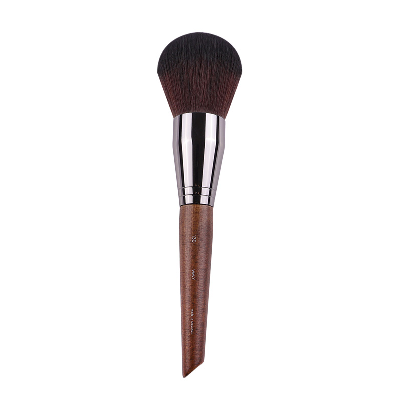 Pro Big Powder Brush #130 Wood Handle Synthetic Hair Large Dense Rounded Makeup Loose Compact Powder Cosmetic Brush