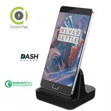CharmTek USB Type-c Sync Charge Dock Chargeur Chargeur Pour Huawei Compagnon 9 Honneur 8 Oneplus 5 3 3 T Support Tableau de Bord Charge QC 2.0
