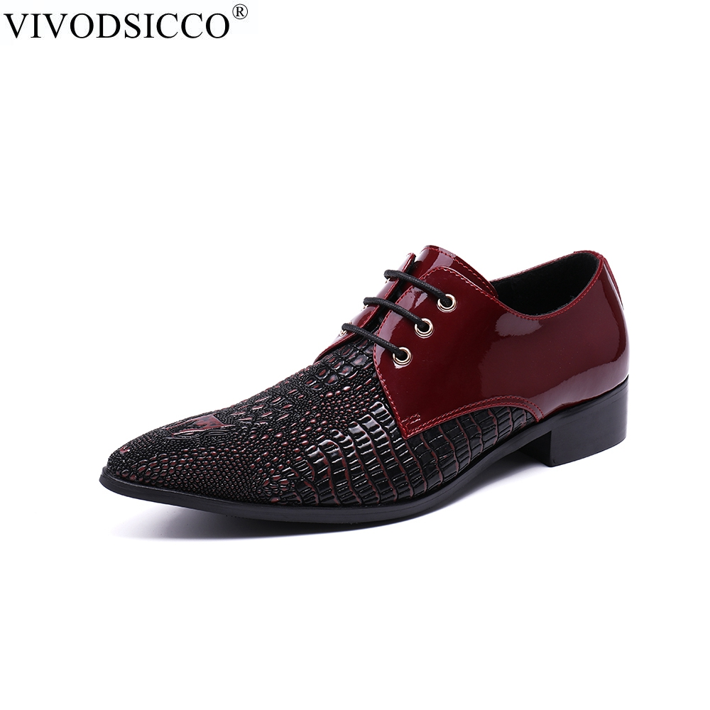 Здесь продается  VIVODSICCO New Men Shoes Luxury Loafers Genuine Patent Leather Prom Shoes Italian Shoes For Men Formal Dress Party Wedding Shoes  Обувь