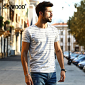 SIMWOOD 2017 New Arrival Spring Summer Striped T Shirt Men Shorts sleeve Fashion Vintage Breton Top Tees TD1133