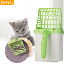 Petshy Useful Cat Litter Shovel Pet Cleaning Tool Scoop Sift Sand Product Scoops Dog Toilet Training Kit