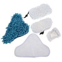New 5Pcs Set Steam Cleaner Mop Pads Kit For H2O X5 Washable Microfiber Replacement Pads Reusable