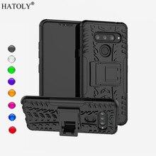 For LG V40 Case Back Cover For LG V40 Phone Case Silicone + Plastic Armor Case Bumper For LG V40 Funda Capa For LG V40 lg lg kt t490