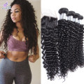 Brazilian Virgin Hair with Closure Brazilian Hair Weave 4 Bundles with Closure Deep Curly Kinky Curly Virgin Hair with Closure