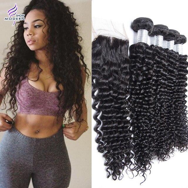Brazilian Virgin Hair With Closure Brazilian Hair Weave 4 Bundles