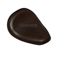 Universal Motorcycle Brown 10x 12SOLO Seat Leather Motorcycle for Harley Bobber Chopper Custom cafe racer Yamaha Honda