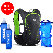 2018 AONIJIE 5L Outdoor Sports Backpack Women / Men Marathon Hydration Vest Pack for Exchange Cycling Hiking Running Water Bag