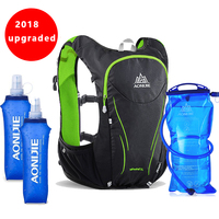 2018 AONIJIE 5L Outdoor Sports Backpack Women Men Marathon Hydration Vest Pack For Exchange Cycling Hiking