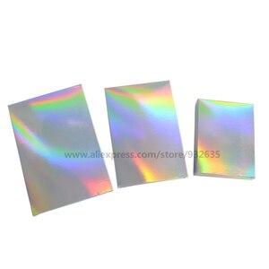 Image 2 - Голографическая коробка для подарков, 50 шт., вечерние коробки для бумаги, чехол для лазерной карты, коробки для подарков, косметика, посылка, коробки для конфет, свадебные любимые