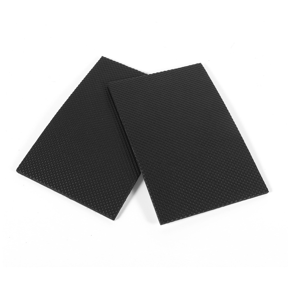 2pcs 9 8cmx15cm Table Rubb Black Non Slip Self Adhesive