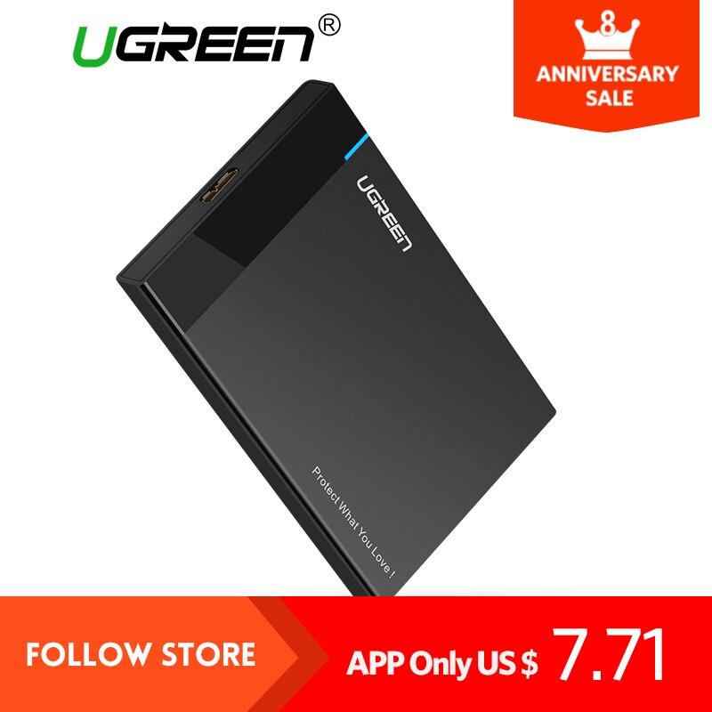 Ugreen HDD Caso 2.5 pollice SATA a USB 3.0 SSD Adattatore per Samsung SSD 1 TB Seagate 2 TB Hard Disk Drive Box Recinzione di HDD Esterno