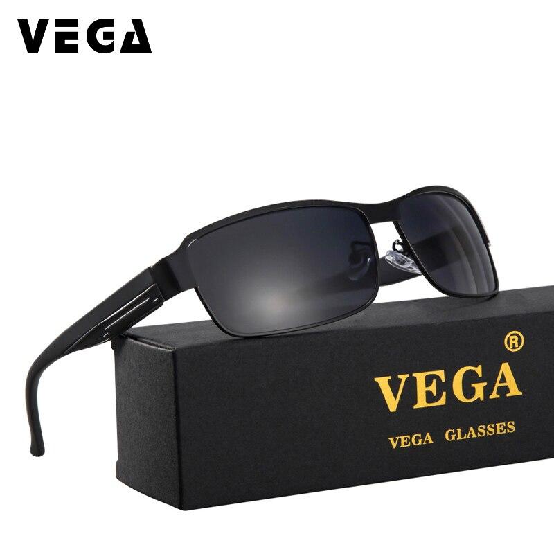 ed827773e فيغا بارد مربع الاستقطاب النظارات الشمسية الرجال المضادة للانعكاس نظارات  الإطار المعدني 8485