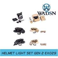 Element Tactical Helmet Light Set Gen 2 White Red IR LED Head Lamp Flashlight EX029 WADSN tactical store