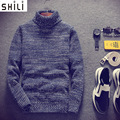 Camisola dos homens De Alta-necked camisola versão masculina da Coréia do conjuntos de inverno estudante grosso camisolas juventude fresco fresco auto-cult