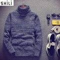 Hombres suéter de cuello alto suéter versión Coreana masculina de la juegos de invierno gruesa estudiante fresco fresco jerseys juventud auto-culto
