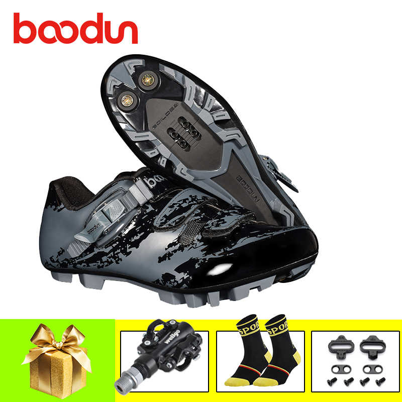 BOODUN sapatilha ciclismo mtb cycling shoes 2019 men self-locking mountain bike shoes SPD bicycle pedals superstar Athletic shoe